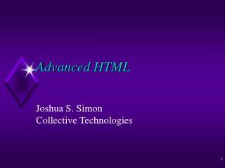 Advanced HTML