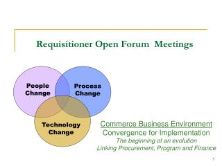 Requisitioner Open Forum  Meetings
