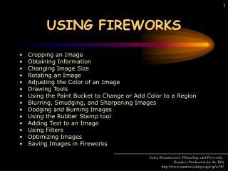 USING FIREWORKS