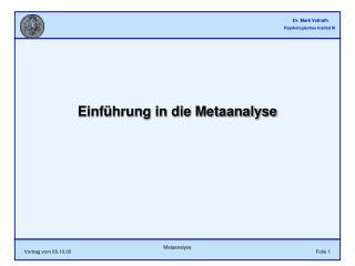 Einf hrung in die Metaanalyse