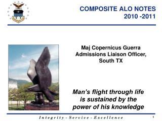 COMPOSITE ALO NOTES   2010 -2011