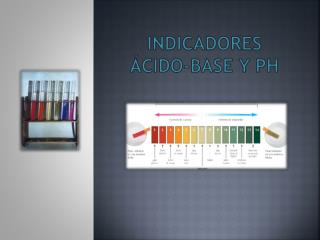 Indicadores ácido-base y pH