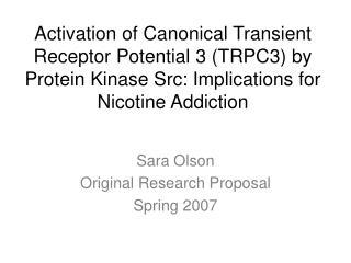 Sara Olson Original Research Proposal Spring 2007