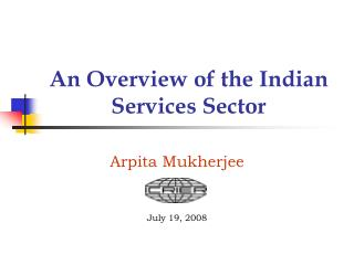 An Overview of the Indian Services Sector