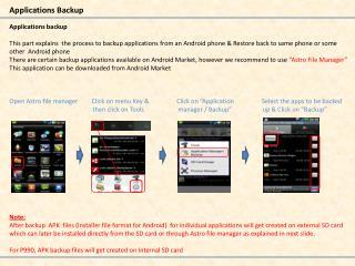 Applications Backup