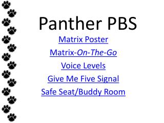 Panther PBS