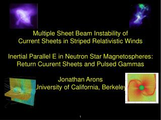 Multiple Sheet Beam Instability of Current Sheets in Striped Relativistic Winds