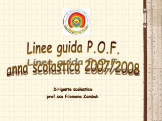 Linee guida P.O.F. anno scolastico 2007/2008