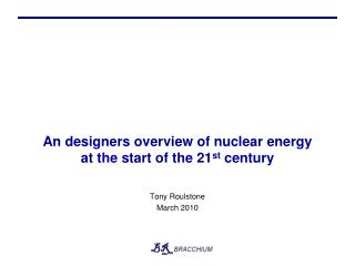 An designers overview of nuclear energy at the start of the 21st century