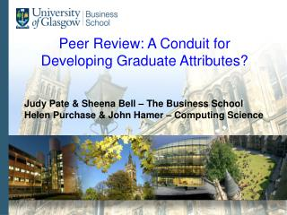 Peer Review: A Conduit for Developing Graduate Attributes?