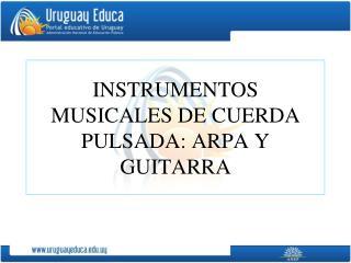 INSTRUMENTOS MUSICALES DE CUERDA PULSADA: ARPA Y GUITARRA