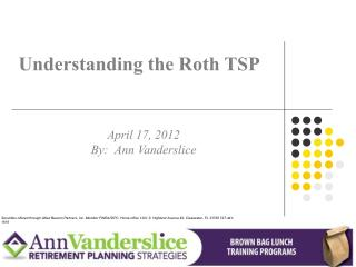 Understanding the Roth TSP