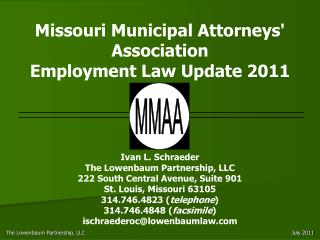 Missouri Municipal Attorneys Association Employment Law Update 2011