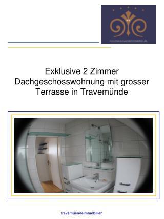 Exklusive 2 Zimmer Dachgeschosswohnung mit grosser Terrasse in Travemünde