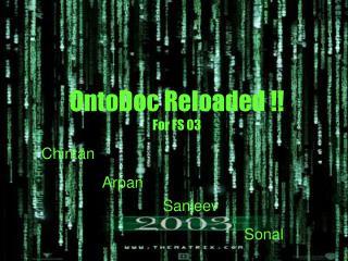 OntoDoc Reloaded !! For FS 03