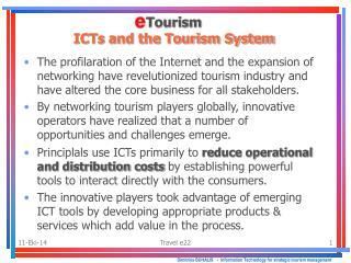 Dimitrios BUHALIS    -   Information Technology for strategic tourism management
