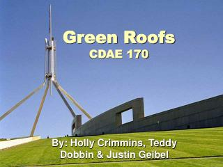 Green Roofs CDAE 170