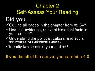Chapter 2  Self-Assess Your Reading