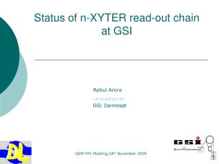 Status of n-XYTER read-out chain             at GSI