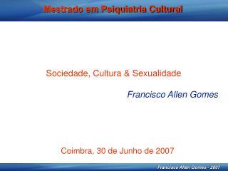 Mestrado em Psiquiatria Cultural