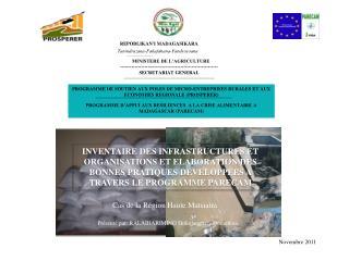 PROGRAMME DE SOUTIEN AUX POLES DE MICRO-ENTREPRISES RURALES ET AUX ECONOMIES REGIONALE (PROSPERER)