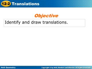 Identify and draw translations.