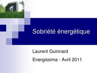 Sobriété énergétique