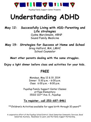 Puyallup Family Support Center Presents: Understanding ADHD