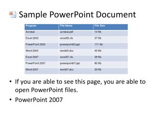 Sample PowerPoint Document