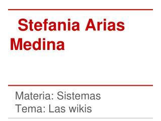 Stefania Arias Medina
