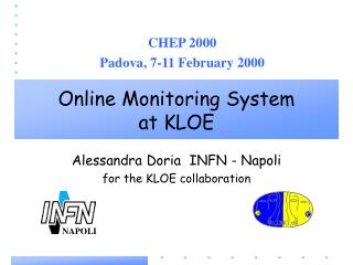 Online Monitoring System at KLOE