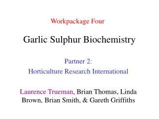 Garlic Sulphur Biochemistry