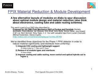 FPIX Material Reduction & Module Development