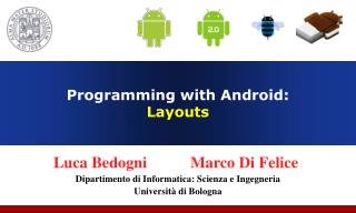 Programming with Android:  Introduction