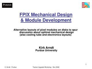 FPIX Mechanical Design & Module Development