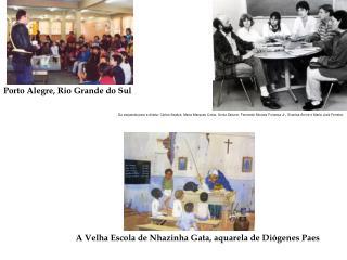 A Velha Escola de Nhazinha Gata, aquarela de Diógenes Paes