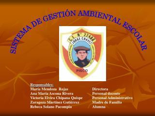 SISTEMA DE GESTIÓN AMBIENTAL ESCOLAR