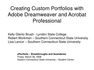 Creating Custom Portfolios with Adobe Dreamweaver and Acrobat Professional