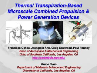 Thermal Transpiration-Based Microscale Combined Propulsion & Power Generation Devices