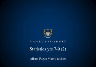 Statistics yrs 7-9(2)