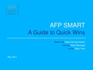 AFP SMART A Guide to Quick Wins