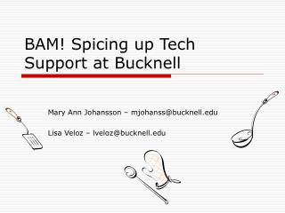 BAM! Spicing up Tech Support at Bucknell