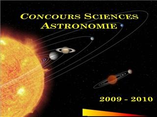 Concours Sciences Astronomie
