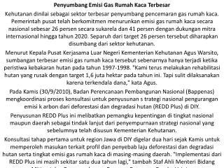 Penyumbang Emisi Gas Rumah Kaca Terbesar