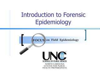 Introduction to Forensic Epidemiology