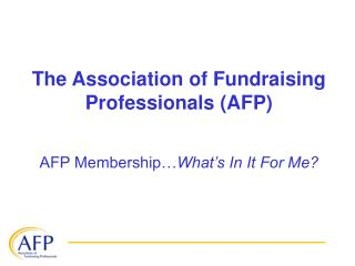 The Association of Fundraising Professionals (AFP)