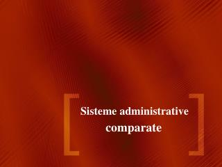 Sisteme administrative
