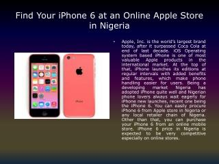 Apple Store in Nigeria