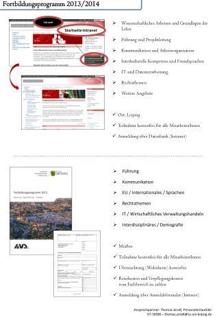 Fortbildungsprogramm 2013/2014