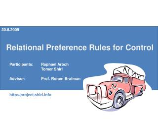 Relational Preference Rules for Control